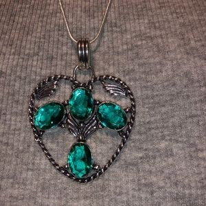 Jewelry - AFGHANI GREEN TOURMALINE COLOR PENDENT IN 925 SS